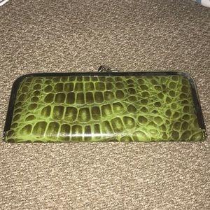 Handbags - Cute green colored clasp wallet